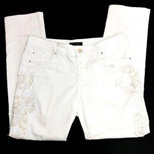 White House Black Market white slim jeans 10R